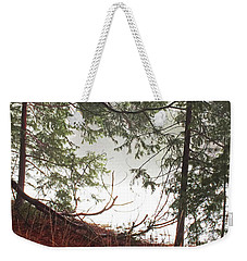 Weekender Tote Bag featuring the photograph Foggy Autumn Morning by Walter Fahmy