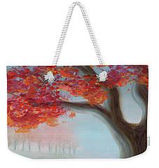 Foggy Autumn Weekender Tote Bag