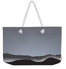 Foggy Black Mountain Range At Dusk Weekender Tote Bag