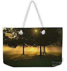 Foggy Burst Of Morning Weekender Tote Bag by Rachel Cohen