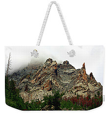 Weekender Tote Bag featuring the photograph Colorado Mountain In Fog by Sheila Brown