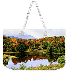 Foggy Day In Vermont Weekender Tote Bag