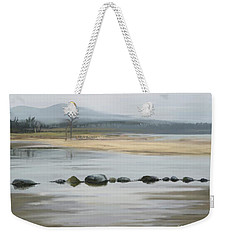 Weekender Tote Bag featuring the painting Foggy Day by Ivana