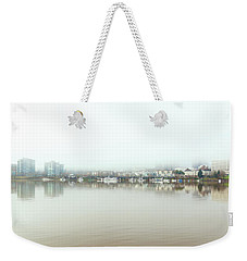 Foggy Day On Portland Downtown Waterfront Weekender Tote Bag