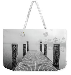 Weekender Tote Bag featuring the photograph Foggy Dock In Alabama  by John McGraw