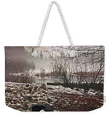 Weekender Tote Bag featuring the photograph Foggy Early Morning 2016 by Walter Fahmy
