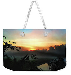 Foggy Edges Sunrise Weekender Tote Bag