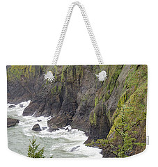 Foggy Evening At Cape Disappointment Weekender Tote Bag