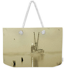 Foggy Evening Catch Weekender Tote Bag by Deborah Smith