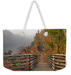 Foggy Fall Trail Weekender Tote Bag