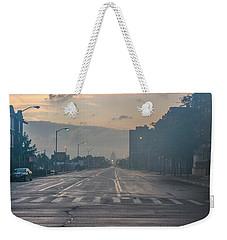 Foggy Fisher Color Weekender Tote Bag
