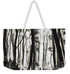 Foggy Forest Tree Paint Weekender Tote Bag