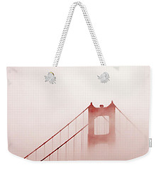 Weekender Tote Bag featuring the photograph Foggy Golden Gate by Art Block Collections
