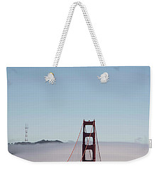 Weekender Tote Bag featuring the photograph Foggy Golden Gate by David Bearden