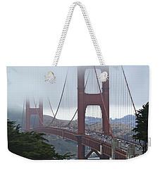 Foggy Golden Gate Weekender Tote Bag by Margaret Brooks
