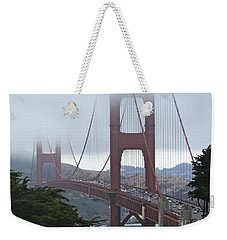 Foggy Golden Gate Weekender Tote Bag