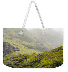 Weekender Tote Bag featuring the photograph Foggy Highlands Morning by Christi Kraft
