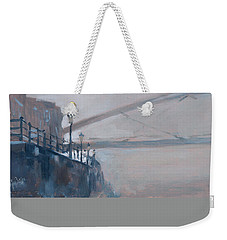 Weekender Tote Bag featuring the photograph Foggy Hoeg by Nop Briex