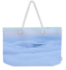 Weekender Tote Bag featuring the photograph Foggy Layers by Kerri Farley