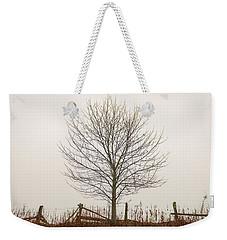 Foggy Lone Tree Hill Weekender Tote Bag