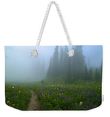 Weekender Tote Bag featuring the photograph Foggy Morning At Tipsoo by Lynn Hopwood