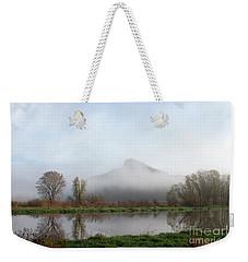 Foggy Morning Bluff Weekender Tote Bag