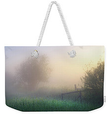 Weekender Tote Bag featuring the photograph Foggy Morning by Dan Jurak