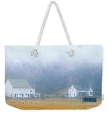 Foggy Morning Farm In West Chester, Pa Weekender Tote Bag