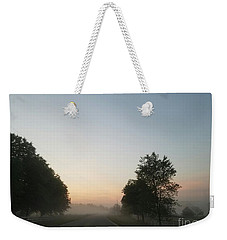 Weekender Tote Bag featuring the photograph Foggy Morning In May by Maria Urso