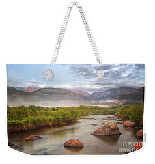 Foggy Morning In Moraine Park Weekender Tote Bag by Ronda Kimbrow