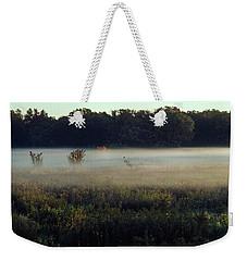 Foggy Morning Meadow Weekender Tote Bag