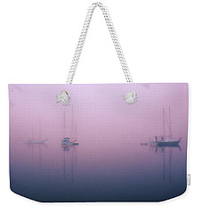 Weekender Tote Bag featuring the photograph Foggy Morning On The  Sassafras River by Richard Goldman