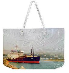 Foggy Morro Bay Weekender Tote Bag