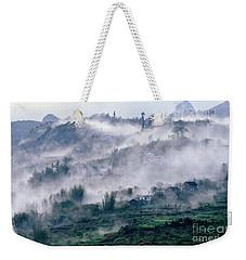 Foggy Mountain Of Sa Pa In Vietnam Weekender Tote Bag