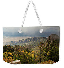 Foggy Mountain View Weekender Tote Bag