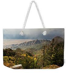 Foggy Mountain View Weekender Tote Bag