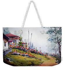 Foggy Mountain Village Weekender Tote Bag