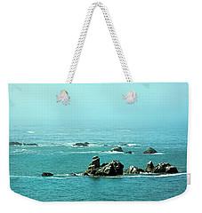Sunny Blue Pacific Ocean Along The Oregon Coast Weekender Tote Bag