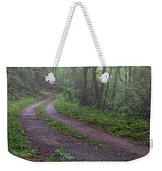 Foggy Road Weekender Tote Bag by David Cote