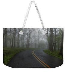 Foggy Road Weekender Tote Bag