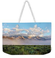 Foggy Teton Sunrise - Grand Tetons National Park Wyoming Weekender Tote Bag