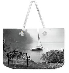 Weekender Tote Bag featuring the photograph Foggy Tranquility by Betsy Zimmerli