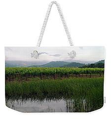 Foggy Vineyard Weekender Tote Bag