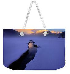 Foggy Winter Days In Banff Weekender Tote Bag