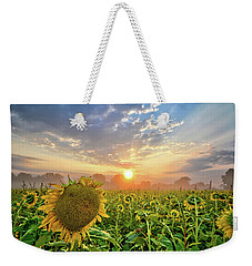 Foggy Yellow Fields Weekender Tote Bag