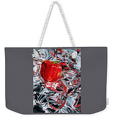 Weekender Tote Bag featuring the painting Foil Reflections by LaVonne Hand