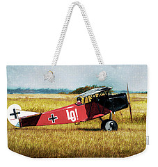 Weekender Tote Bag featuring the photograph Fokker D Vii by James Barber