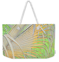 Fold Over Palm Weekender Tote Bag