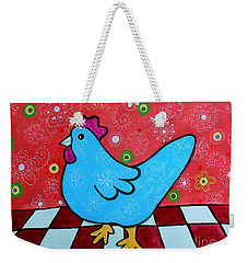 Folk Art Rooster Weekender Tote Bag