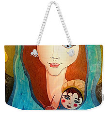 Folk Mother And Child Weekender Tote Bag